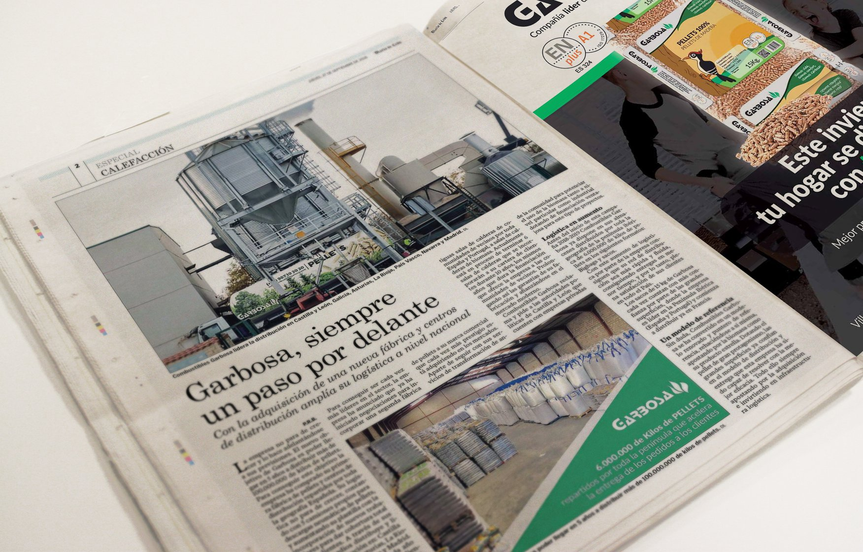Combustibles Garbosaes la empresa de referencia en el sector del pellets