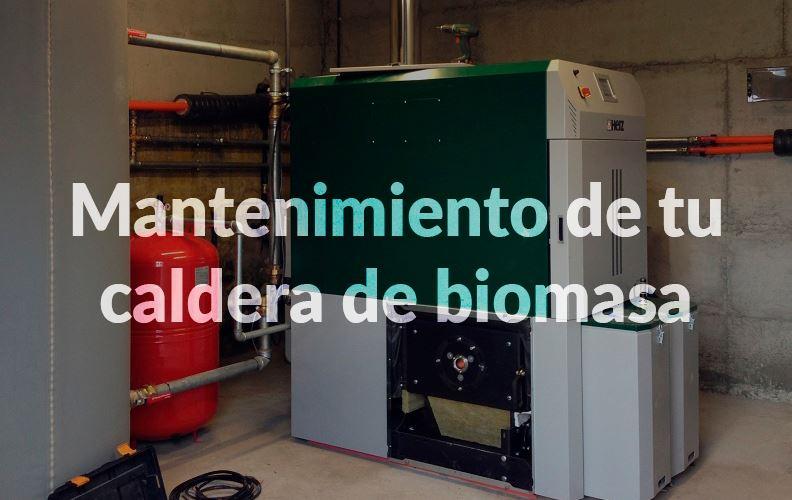 Mantenimiento de caldera de biomasa