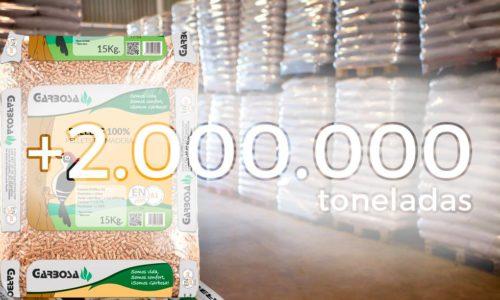 Capacidad de producción de pellet en España supera ya los 2.000.000 de toneladas anuales