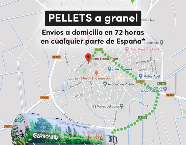 Suministro de pellets a granel en León, Palencia, Valladolid, Asturias, Burgos…