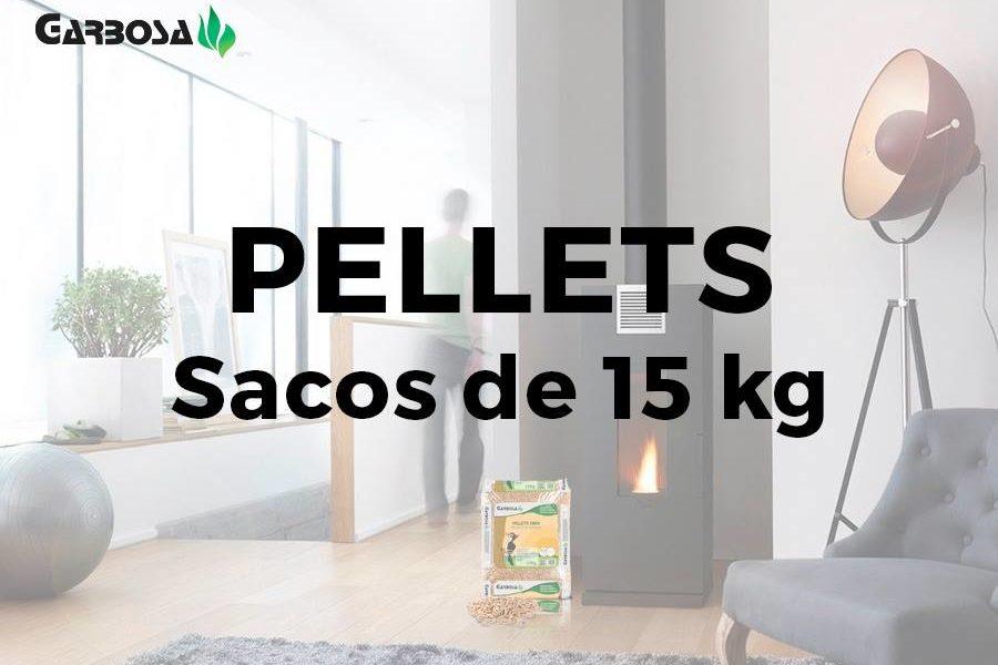 Venta de sacos de pellets de 15Kg