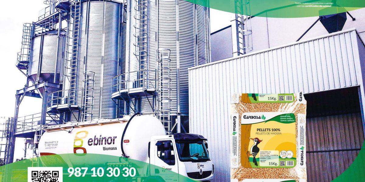 En Grupo Garbosa disponemos de una fábrica propia de pellets en el norte de España