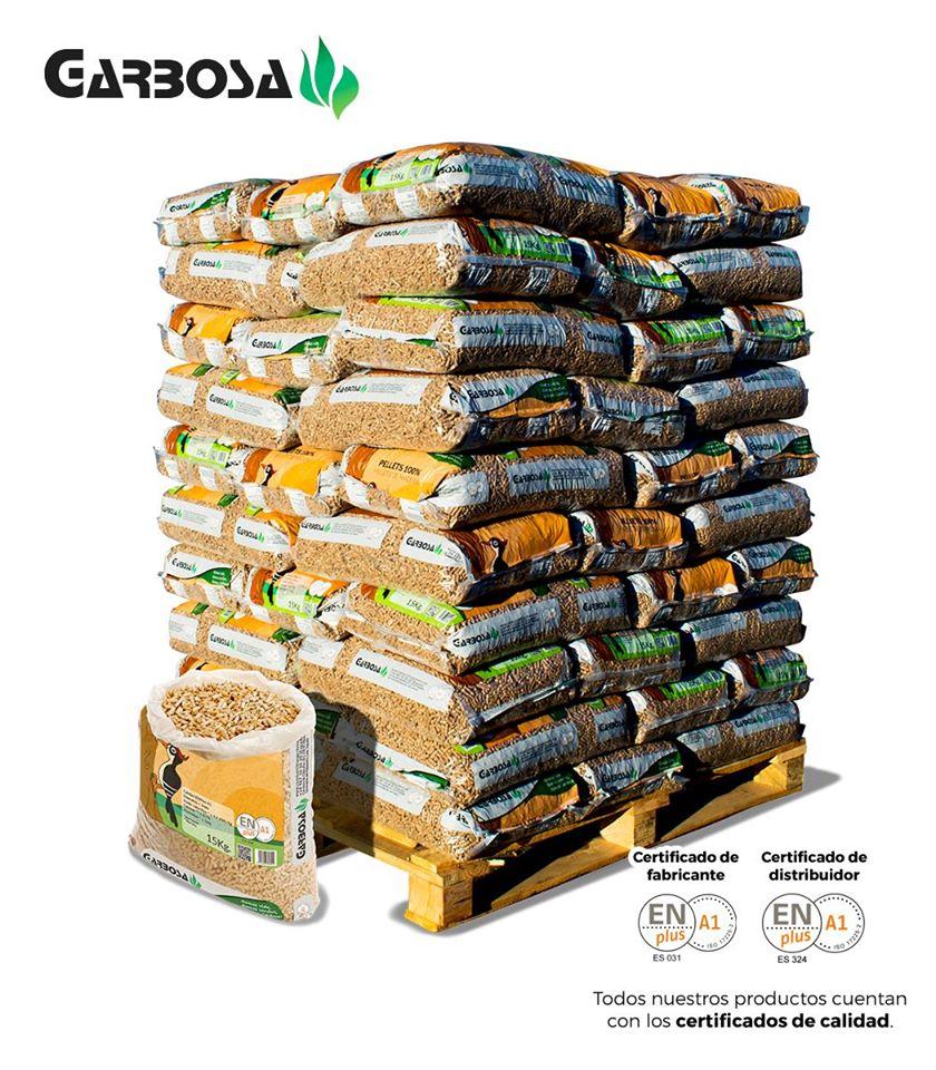 Sacos de 15 Kg de pellets