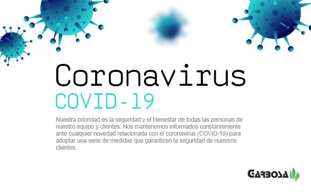 Coronavirus: DECLARACIÓN DEL ESTADO DE ALARMA. Información a los usuarios (COVID-19)